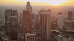 Aerial view of city buildings Los Angeles,USA Stock Footage