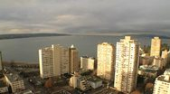 City on the ocean Stock Footage