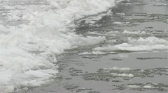 Ice on River 21 Stock Footage