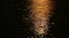 Rainy water surface by night - stock footage