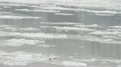Ice on River 25 Stock Footage