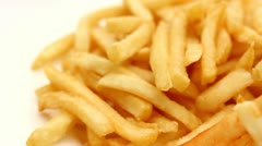 French fries - stock footage