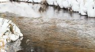 Stock Video Footage of river flows in winter