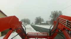 Tractor in snow storm P HD 002 Stock Footage