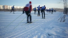 Skiing Championship - stock footage