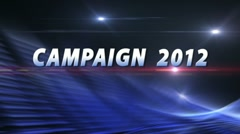 CAMPAIGN 2012 Election News Bumper - Politics Series Stock Footage