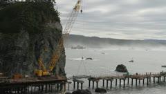 pier crane w07 - stock footage