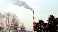 Pollution of the atmosphere Stock Footage