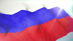 3d flag Russia Stock Footage