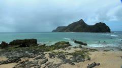 Porto Santo beach 20110423 131403 Stock Footage