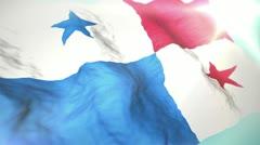 3d flag Panama Stock Footage