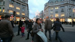 People crossing Oxford Circus Stock Footage