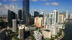 Aerial view of Downtown Miami Stock Footage