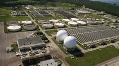 Aerial View of Virginia Key Sewage Treatment Plant Stock Footage