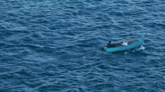 Small fishing boat 2/3 Stock Footage