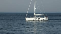 White yacht Stock Footage