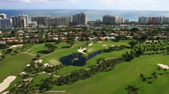 Aerial view of the Miami Beach Golf Club Stock Footage