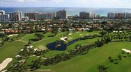 Stock Video Footage of Aerial view of the Miami Beach Golf Club
