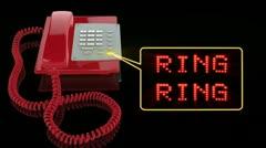 Emergency Red Phone Ring Ring teksti Arkistovideo