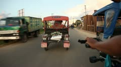 Motortaxi Trip In Iquitos, Peru Stock Footage