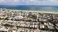 Aerial view of South Beach, Miami Beach, Fl. Stock Footage