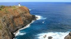 Kilauea Lighthouse on Kauai Stock Footage
