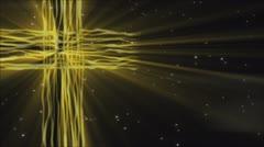 Flowing Cross Loop Gold Stock Footage