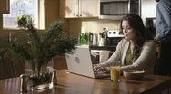 Caucasian Female Working In Kitchen Upset Stock Footage