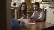 Caucasian Couple Packing In Kitchen Happy Stock Footage