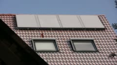 Winter season - solar cells Stock Footage