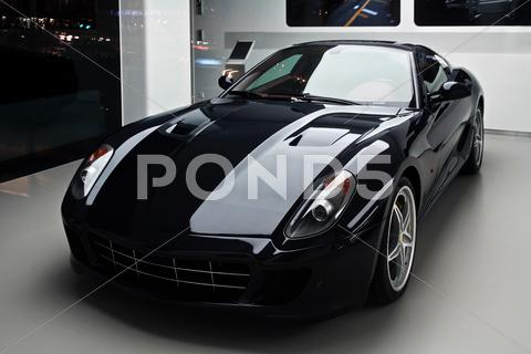 Stock photo of black sport car