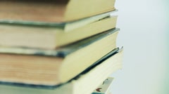 Stack of books - stock footage