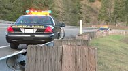 Stock Video Footage of CHP on Roadside at Accident Scene 1