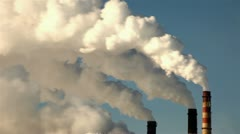 Thermal power plant, time-lapse, smoke Stock Footage