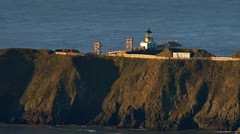 Marin Headlands Pt Bonita Lighthouse Morning Sunrise Stock Footage