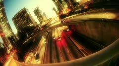 City traffic. Los Angeles. Stock Footage