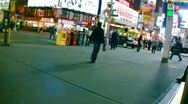 New York City streets, taxis, traffic & people (editorial) Stock Footage