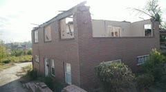 Tornado Damage Home, House Stock Footage