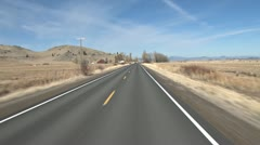 Dry Winter Driving Northern California Old Hwy 99 #2 Stock Footage