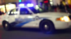 Police Car 2385 Stock Footage