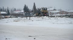 Winter Home Construction in Slave Lake, Alberta Stock Footage
