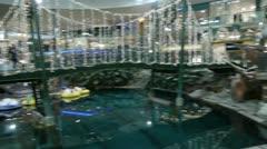 West Edmonton Mall, Pirates Ship, Bridge, Indoor Lake Stock Footage
