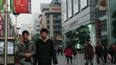 Shanghai E nanjing road time lapse day 1 Stock Footage