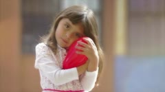 Stock Video Footage of Child heart and love