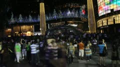 Singapore Orchard Square Xmas eve time lapse Stock Footage