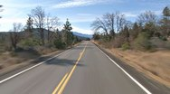 Stock Video Footage of Driving West into the Hills - Gazelle Callahan Rd