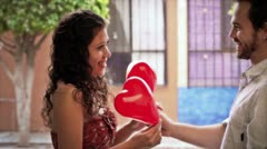 Couple Hearts 2 Stock Footage