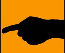Pointing finger V4 - PAL Stock Footage