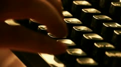 Stock Video Footage of Hands typing on a typewriter.