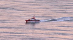 San Fancisco Bay Pilot Boat in Morning Stock Footage